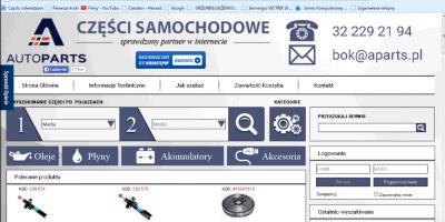 Sklep Internetowy AutoParts Części Samochodowe Nr 1 w Polsce!