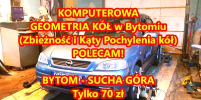 Komputerowa Geometria Kół Bytom - Tylko 70 zł - POLECAM