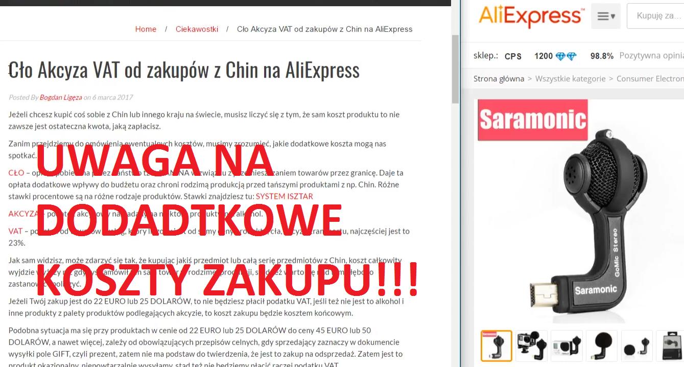 Jak płacić na Aliexpress? cło, VAT i płatność za