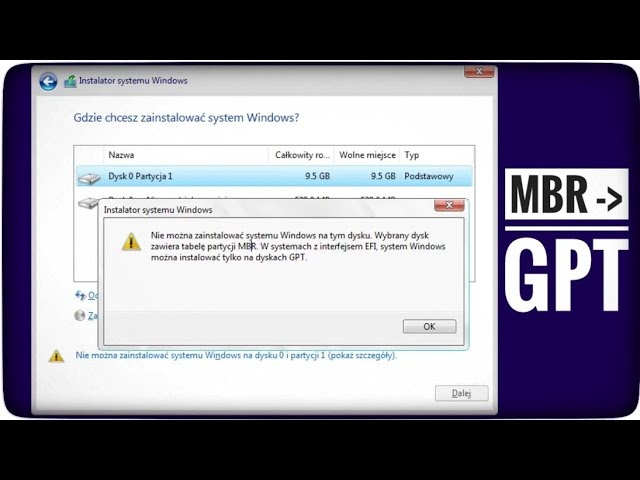 MBR na GPT - DiskPart Windows 10 | ForumWiedzy pl