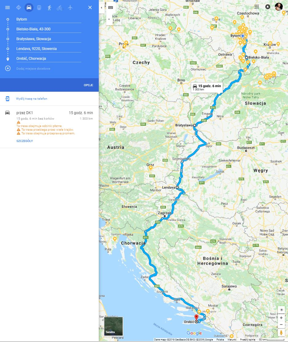 Chorwacja Samochodem Trasy Ceny Winiety Informacje Poradniki